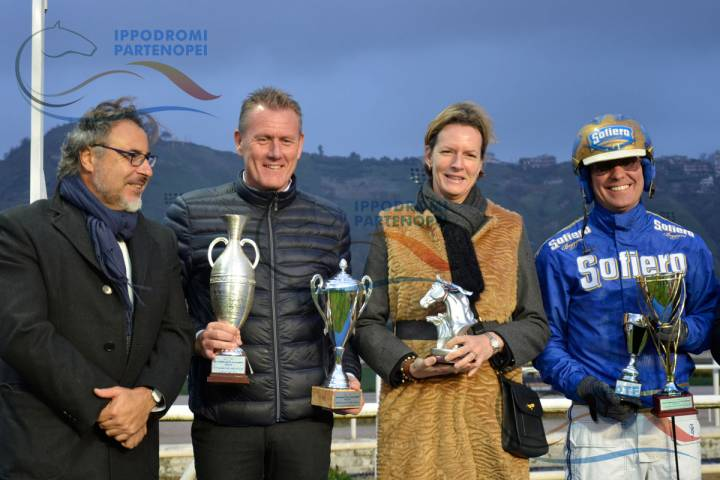 la premiazione del Mipaaft Allevamento Filly vinto da All Wise As di Peter Wilhelmsen